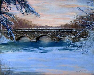 Sudbury River Painting - Elm Street Bridge On A Winter's Morn by Jack Skinner