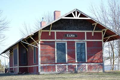 Photograph - Elma Depot by Bonfire Photography