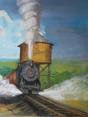 Railroad Painting - Elmira Branch by Christopher Jenkins