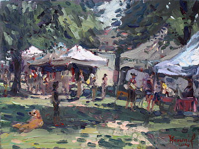 Farmers Painting - Elmwood-bidwell Farmers Market by Ylli Haruni