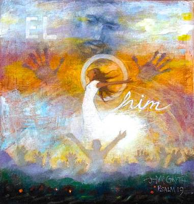 Mixed Media - Elohim by Janet McGrath