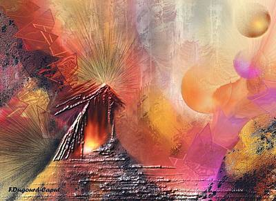 Abstract Digital Painting - Elonia by Francoise Dugourd-Caput