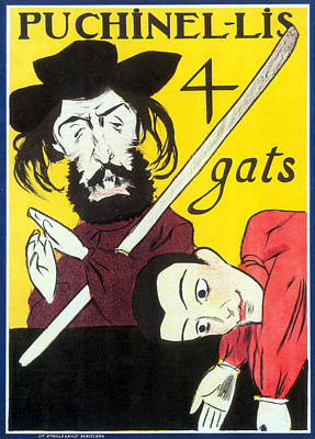 Photograph - Els Quatre Gats Poster, Ramon Casas by Science Source