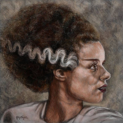 Elsa Lanchester Is The Bride Of Frankenstein Art Print