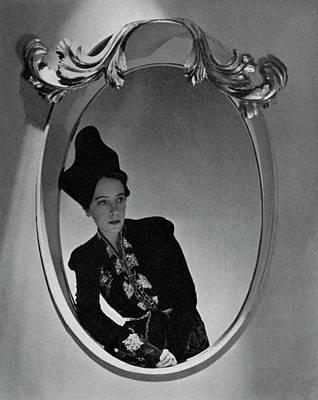 Elsa Schiaparelli Reflected In A Mirror Art Print