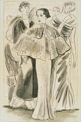 Elsa Schiaparelli Wearing A Cape Art Print by Cecil Beaton