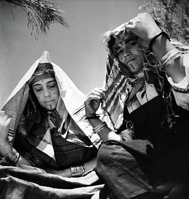 Northern Africa Photograph - Elsa Schiaparelli With A Dressmaker by Horst P. Horst