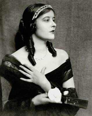 Tiara Photograph - Elsie Mackay Wearing A Tiara by Nickolas Muray