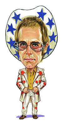 Caricature Photograph - Elton John by Art