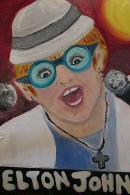 Painting - Elton John by Debby Reid