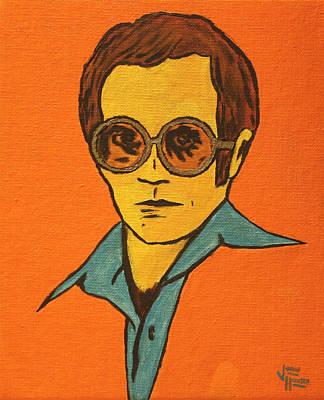Elton John Painting - Elton John by John Hooser
