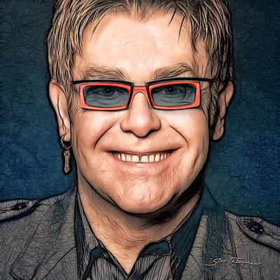 Elton John Painting - Elton John by Sippapas Thienmee