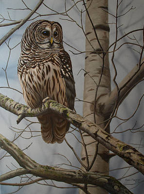 Wildfowl Painting - Elusive Sentinel by Ron Plaizier