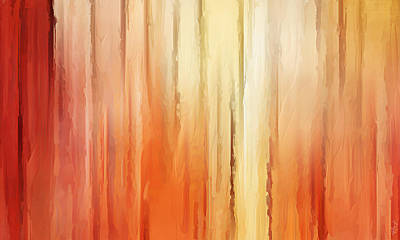 Sunset Abstract Painting - Elusive View by Lourry Legarde