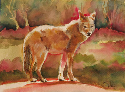 Elusive Visitor Art Print by Pattie Wall