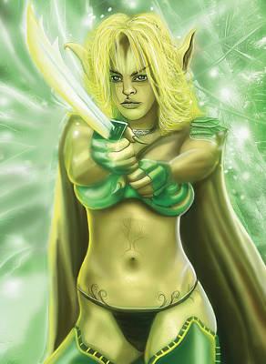 Digital Art - Elven Enchantress by Anthony Christou
