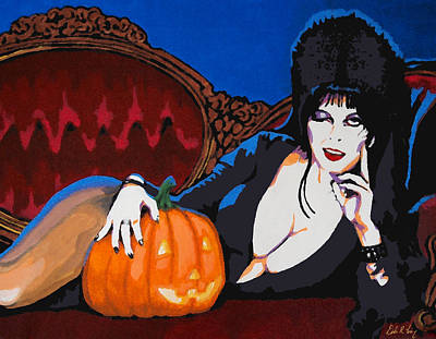 Painting - Elvira Dark Mistress by Dale Loos Jr