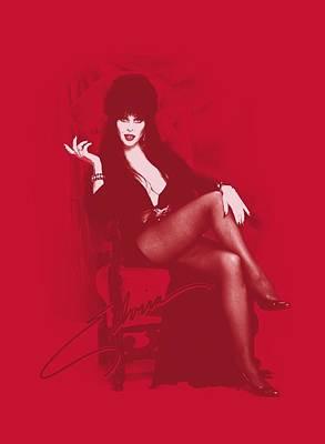 Horror Digital Art - Elvira - Red Chair by Brand A