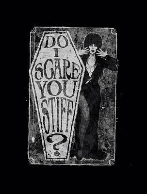 Horror Digital Art - Elvira - Scared Stiff by Brand A