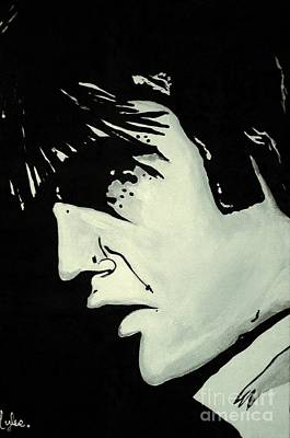 Painting - Elvis.     The King by Saundra Myles