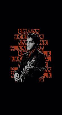 The King Digital Art - Elvis - 1968 by Brand A