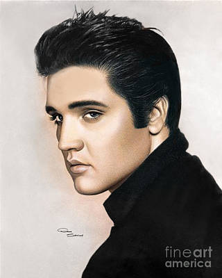 Tennessee Drawing - Elvis 1968 by Donna  Schellack