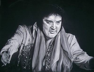 Pastel - Elvis 1977 by Martha Suhocke