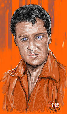 Digital Art - Elvis 3 by Stan Kwong