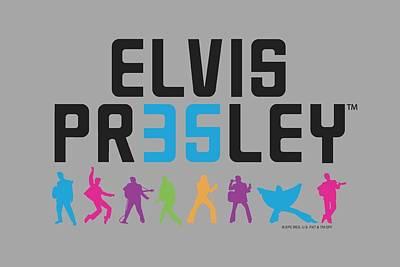 The King Digital Art - Elvis - 35 by Brand A