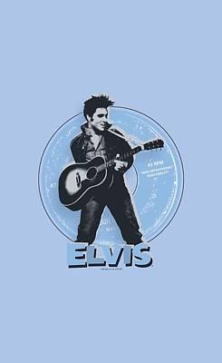 Elvis Presley Digital Art - Elvis - 45 Rpm by Brand A