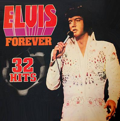 Album Digital Art - Elvis Album by Gina Dsgn