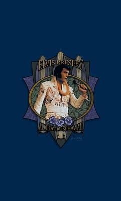 The King Digital Art - Elvis - Aloha From Hawaii by Brand A