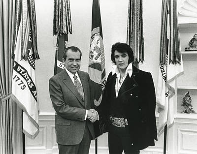 Politics Digital Art - Elvis And Nixon by Unknown