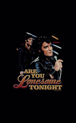 The King Digital Art - Elvis - Are You Lonesome by Brand A