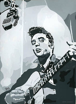 Elvis At Sun Art Print by Suzanne Gee