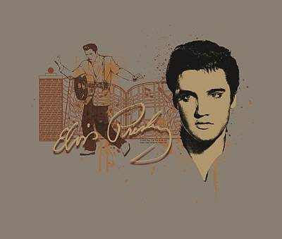 The King Digital Art - Elvis - At The Gates by Brand A
