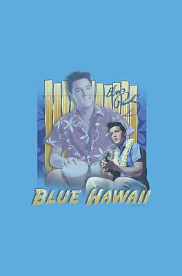 The King Digital Art - Elvis - Blue Hawaii by Brand A