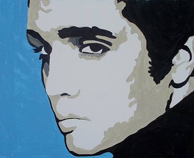Painting - Elvis Blue by Marisela Mungia