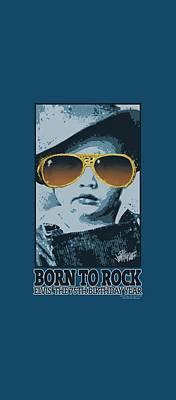 King Of Rock Digital Art - Elvis - Born To Rock by Brand A