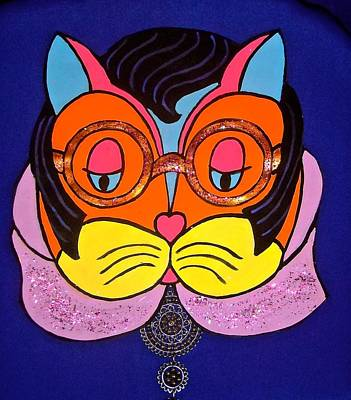 Painting - Elvis Cat by Stephanie Moore