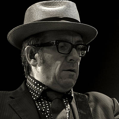 Photograph - Elvis Costello by Tony Reddington