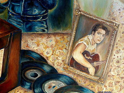 Painting - Elvis Country Boy by Carole Spandau