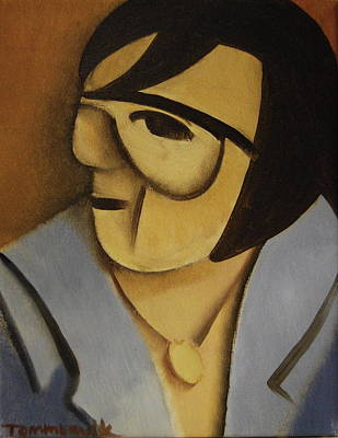 Painting - Elvis Cubism Portrait Art Print by Tommervik