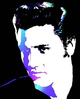 Elvis Art Print by Cindy Edwards
