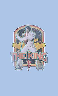 The King Of Pop Digital Art - Elvis - Distressed King by Brand A