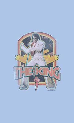 King Of Rock Digital Art - Elvis - Distressed King by Brand A