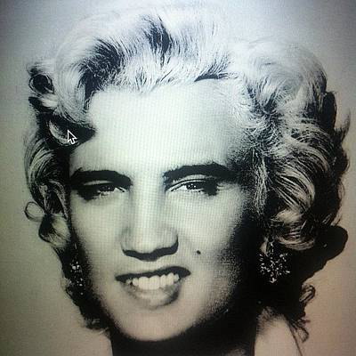 Elvis Photograph - #elvis by Dolly F