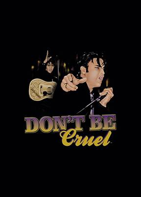 The King Digital Art - Elvis - Don't Be Cruel by Brand A