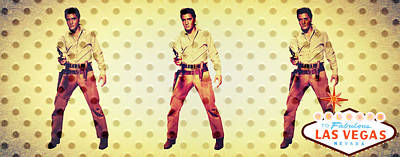 Mixed Media - Elvis Elvis Elvis by Michelle Dallocchio