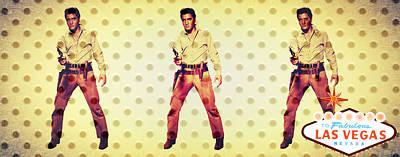 Las Vegas Artist Mixed Media - Elvis Elvis Elvis by Michelle Dallocchio